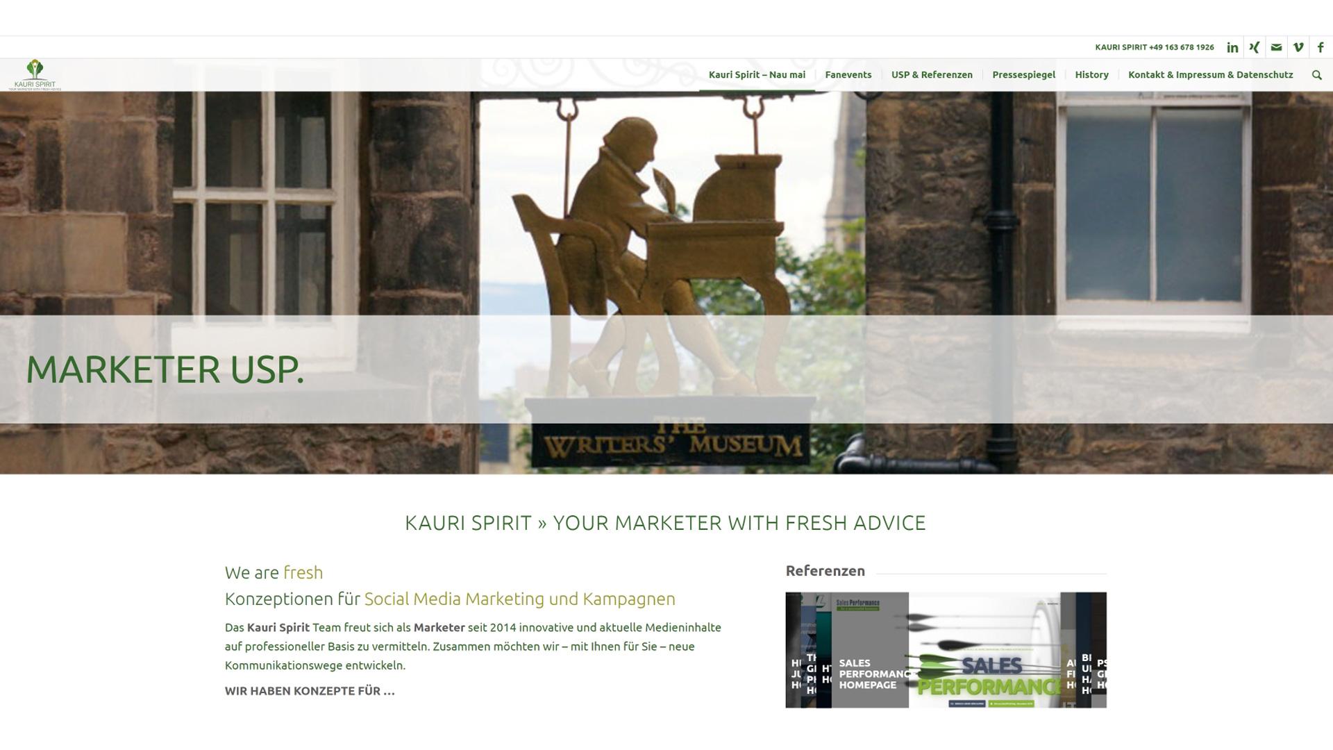 Kauri Spirit Marketer und Kommunikation 2020